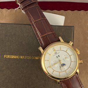 FORSINING Moonphase Self-winding Gold Luxury Watch